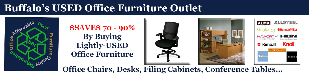 Discount Lightly-USED Office Furniture Sales & Installation, Buffalo, NY & WNY