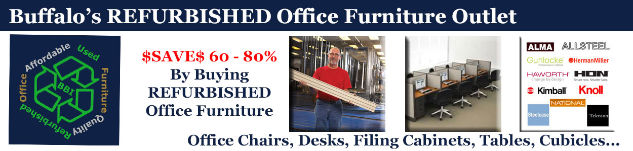 Discount REFURBISHED Office Furniture Sales & Installation, Buffalo, NY & WNY