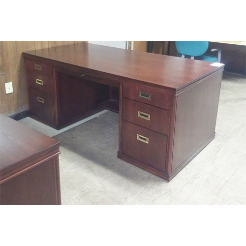 <br><b>Office Desk and Credenza </b><br>Alma Wood Set<br>$1800